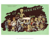 Le Peril Vert, L&#39;Absinthe, c.1910 Prints