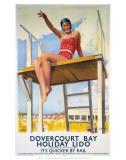 Dovercourt Bay, Holiday Lido, LNER, c.1941 Kunst von Daphne Padden