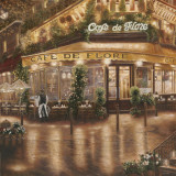 Caf&#233; de Flore Prints by Betsy Brown