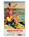 Aberystwyth, BR (WR), c.1956 Art by Harry Riley