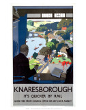 Knaresborough: Its Quicker by Rail, LNER, c.1928 Print