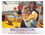 Bridlington: Its Quicker By Rail, LNER, c.1923-1947 Prints