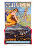 Cycles Automoto St Etienne, Les Usines Automoto, c.1914 Prints