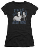 Juniors: Star Trek-Kirk Spock And Company T-shirts