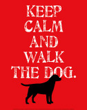 Keep Calm (Labrador) Affiches par Ginger Oliphant