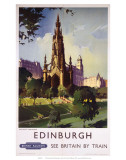 Edinburgh: The Scott Monument, BR, c.1950s Plakaty