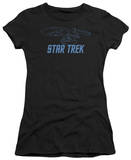Juniors: Star Trek-Enterprise Outline T-Shirt