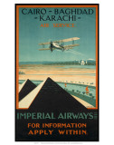Imperial Airways travel, c.1924 Poster