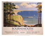 Bourenmouth: Britains All-Season Resort, BR, c.1950s Prints by Alker Tripp