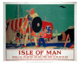 Isle of Man, LMS, c.1920s Print by Reginald Higgins
