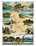 England and Wales, LNWR Prints
