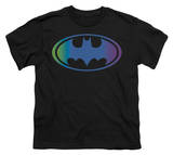 Youth: Batman-Gradient Bat Logo Shirts