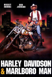 Harley Davidson et l&#39;homme aux santiags Affiche