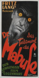 The Testament of Dr. Mabuse - German Style Posters