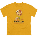 Youth: Popeye-Spinach Retro T-shirts