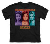 Youth: Battle Star Galactica-Colonial Babes T-Shirt