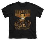 Youth: Betty Boop-Rebel Rider T-Shirt