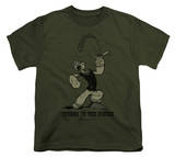 Youth: Popeye-Strong To The Finish T-shirts