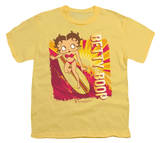 Youth: Betty Boop-Sunset Surf T-Shirt