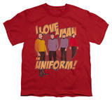 Youth: Star Trek-Man In Uniform T-shirts