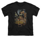 Youth: Battle Star Gallactica-Distressed Poster Shirts