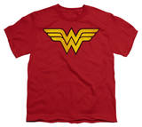 Youth: DC-Wonder Woman Logo Distressed T-Shirt