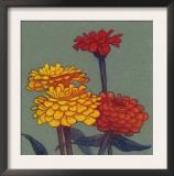 Zinnia Flower Art