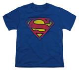 Youth: Superman-Destroyed Supes Logo T-shirts