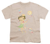 Youth: Betty Boop-Hula Flowers T-shirts