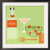 Vodka and Salad Print