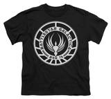 Youth: Battle Star Galactica-Galactica Badge T-Shirt