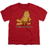 Youth: Garfield - Happy Face T-shirts