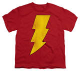 Youth: DC-Shazam Logo Distressed T-shirts