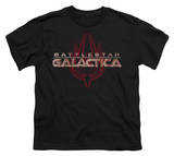 Youth: Battle Star Galactica-Logo With Phoenix T-Shirt