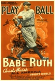 Play Ball With Babe Ruth Plakater