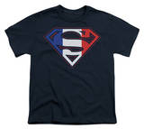 Youth: Superman-French Shield T-shirts