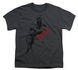 Youth: Batman - Sketch Bat Red Logo T-Shirt
