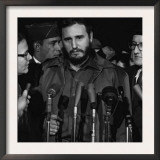 Fidel Castro Arrives Mats Terminal, Washington D.C., by Warren K. Leffler, April 15, 1958 Prints