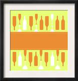 Wine Glasses and Bottles Prints