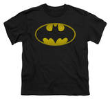 Youth: Batman - Washed Bat Logo T-shirts