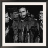 Fidel Castro arrives at MATS Terminal, Washington, D.C., c.1959 Prints by Unknown Unknown