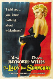 The Lady From Shanghai Posters