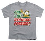 Youth: Garfield - Excused Forever T-shirts