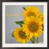 Smile: Sunflower Bouquet Prints by Nicole Katano