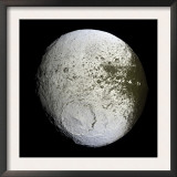 Saturn's Moon Iapetus Posters by  Stocktrek Images