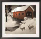 Snow Covered Bridge Posters