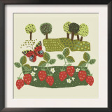 Strawberries and Trees Posters