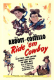 A cheval Cowboy Affiches