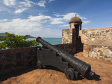 Cannon at Fuerte De San Felipe Fort, Puerto Plata, North Coast, Dominican Republic Photographic Print by Walter Bibikow