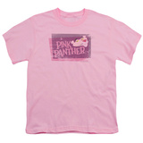 Youth: Pink Panther - Distressed T-Shirt
